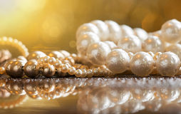 Jewelry pearls Stock Images