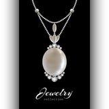 Jewelry Pendant on Black Stock Images