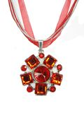 Jewelry pendant with bright crystals Royalty Free Stock Photos