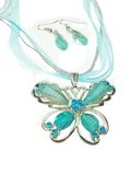 Jewelry pendant butterfly and earrrings Royalty Free Stock Photos