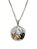 Jewelry pendant with shiny crystals Stock Photos