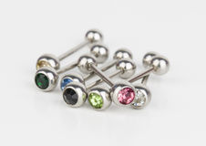 Jewelry for piercing. royalty free stock photo