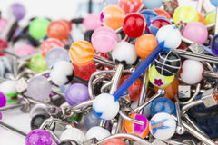 Jewelry for piercing. Royalty Free Stock Images