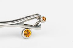 Jewelry for piercing. stock photography
