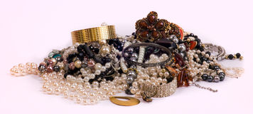 Jewelry pile Royalty Free Stock Image