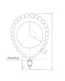 Jewelry Production Sketch of Brilliant Necklace. Royalty Free Stock Photo
