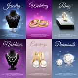 Jewelry Realistic Banners Royalty Free Stock Image