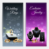 Jewelry Realistic Banners Stock Image