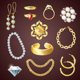 Jewelry Realistic Set Royalty Free Stock Photography