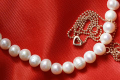 Jewelry On Red Royalty Free Stock Photo