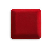 Jewelry red box closed, isolated on white background Royalty Free Stock Photography