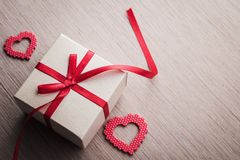 Jewelry red gift box Royalty Free Stock Photo