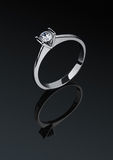 Jewelry ring with diamond Stock Photography