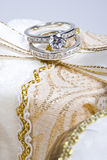 Jewelry - Rings On Gift Box Stock Image