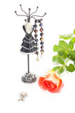 Jewelry with rose Stock Photos