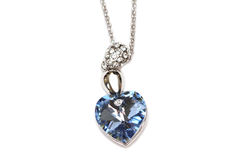 Sapphire necklace Stock Photos