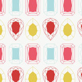 Jewelry seamless pattern. Abstract diamonds seamless pattern vector illustration stock illustration
