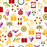 Jewelry seamless pattern background Royalty Free Stock Photo