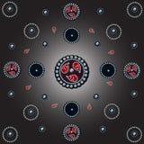 Jewelry seamless pattern, diamonds and rubies illustration. Stock Photo