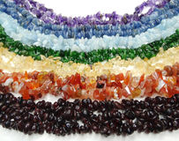 Jewelry semigem crystals beads jewellery Royalty Free Stock Photos