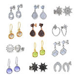 Jewelry Set of earrings Royalty Free Stock Photography
