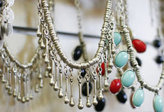 Jewelry in the shop Royalty Free Stock Photo