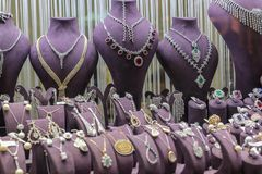 Jewelry shop and jewelry stock image