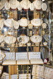 Jewelry shop in Tunis royalty free stock photo