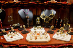 Jewelry shop. Venetian jewelry for sale in Venice shop royalty free stock image