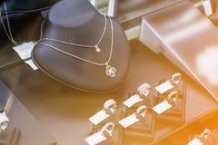 Jewelry shop window display Stock Image