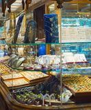 Jewelry shops. Tehran Grand Market Royalty Free Stock Images