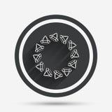 Jewelry sign icon. Diamonds circle symbol. Royalty Free Stock Images