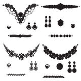Jewelry silhouettes stock illustration