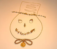 Jewelry Snowman Smiling Stock Photos