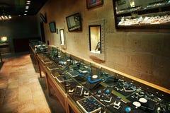 Jewelry store. The interior of jewelry store stock image