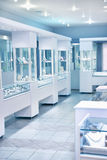 Jewelry store. The interior of jewelry store royalty free stock images