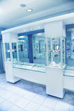 Jewelry store. The interior of jewelry store royalty free stock photography