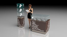 Jewelry store. A 3D illustration of a jewelry store Stock Photography