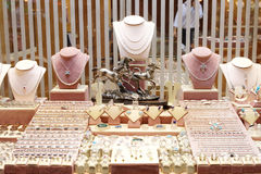 Jewelry store. Show-window in Egypt stock photography
