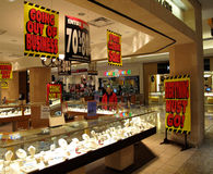 Jewelry Store Bankruptcy. Photo of Whitehall jewelry store at a mall in Maryland on 11/30/08. This chain faces chapter 11 bankruptcy and is selling its assets Royalty Free Stock Image