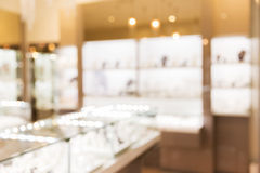 Jewelry store blurred background Stock Images