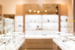 Jewelry store blurred background Stock Photo