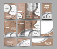 Jewelry Store Business Stationery. Set Template royalty free illustration