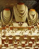 Jewelry Store Display. Of necklaces, earrings, brooches and bracelets Stock Image