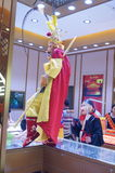 Jewelry store promotions, Sun Wukong performances to attract people Stock Photo