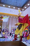 Jewelry store promotions, Sun Wukong performances to attract people Royalty Free Stock Images