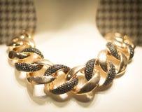 Jewelry store shop window necklace Stock Photo