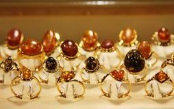 Jewelry in store window Stock Photo