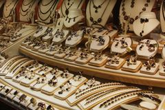 Jewelry in store window Stock Photography