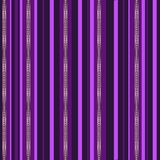 Abstract pink, purple and gold stripes with diamonds on dark purple background. royalty free illustration